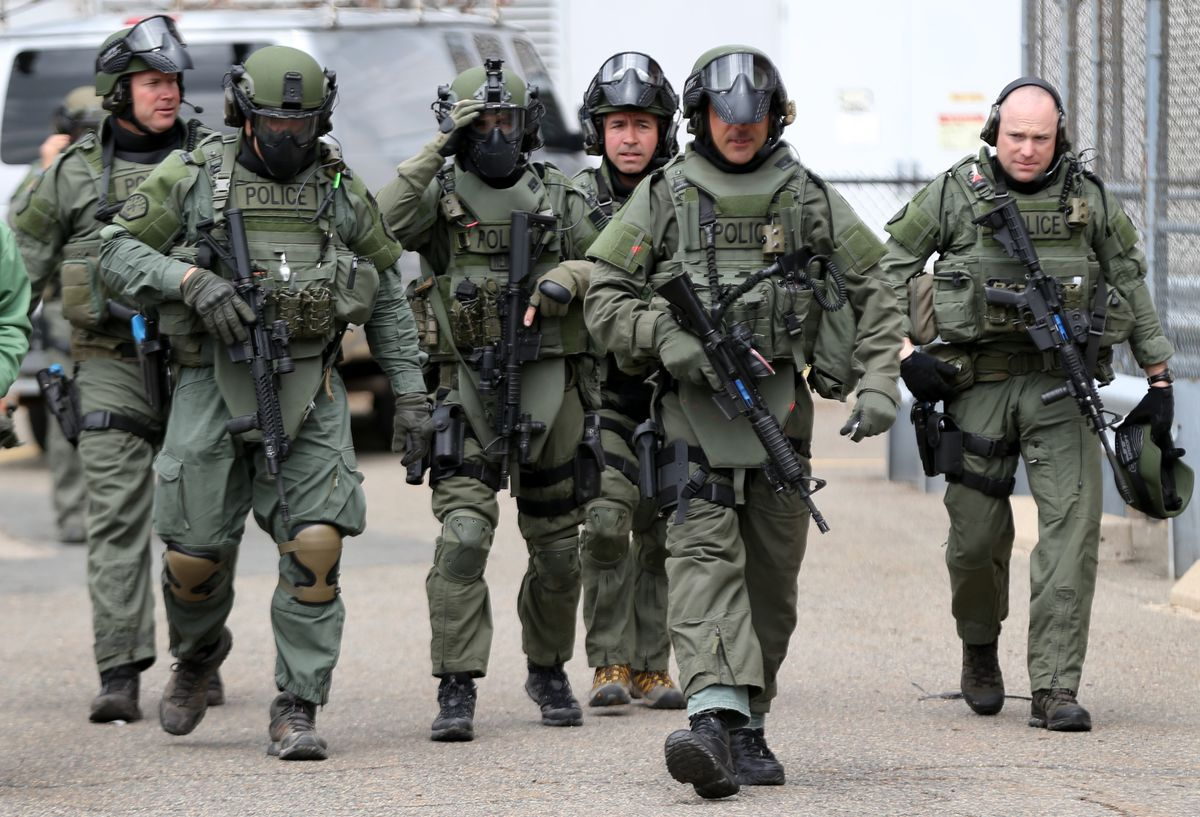 police SWAT training