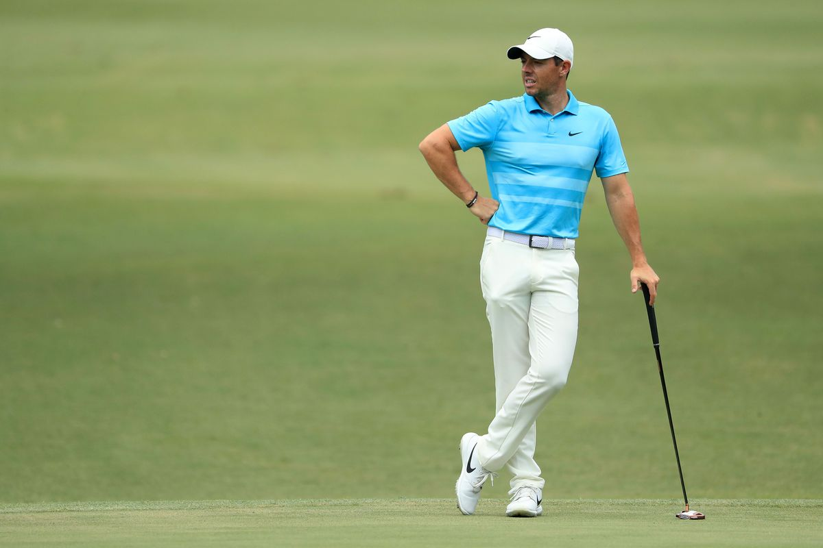 Rory McIlroy of Northern Ireland looks on from the tenth green during the second round of the RBC Heritage on June 19, 2020 at Harbour Town Golf Links in Hilton Head Island, South Carolina.