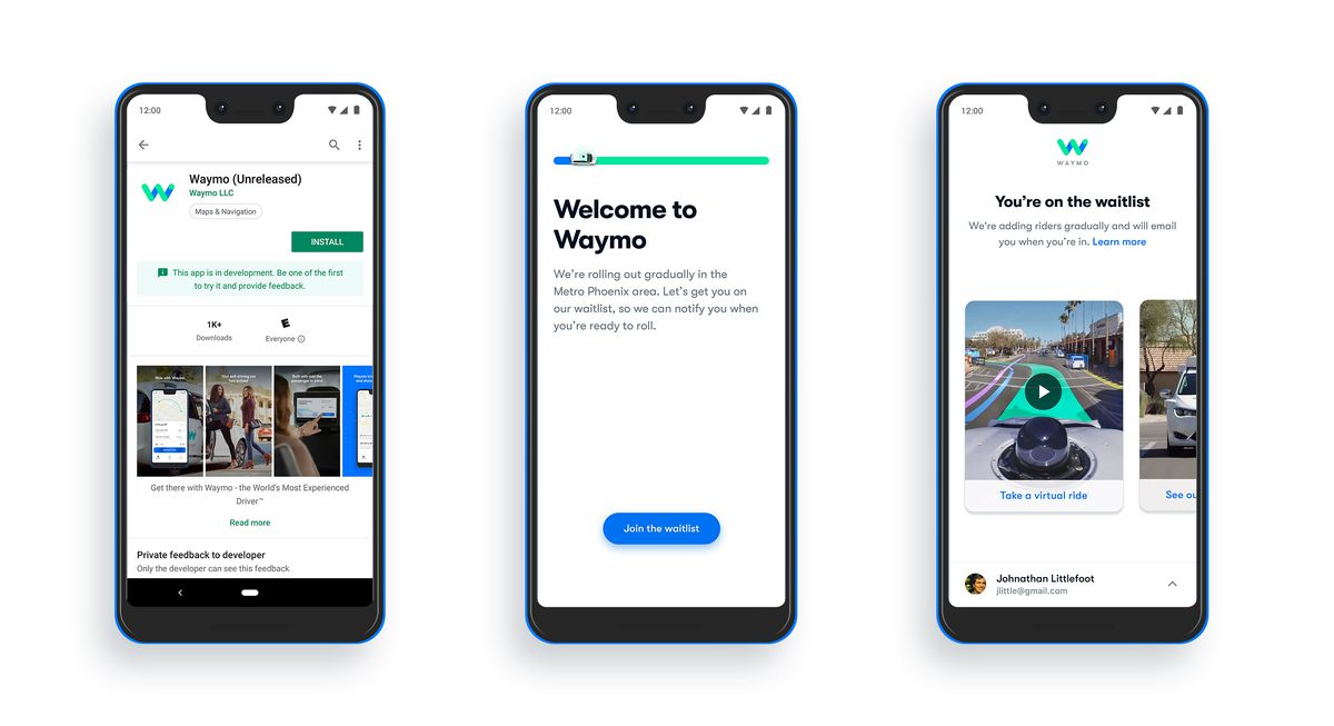 Waymo's app is now in the Google Play Store, but don't