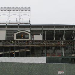 New scaffolding under construction -