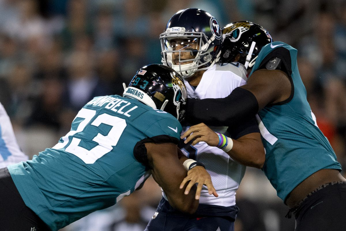 "official photos d447a 7b734 Jaguars pass rush dominated Titans as ""Sacksonville ..."