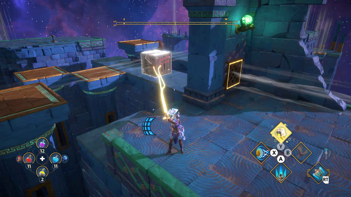 A puzzle solution in the Shrine of Aither Vault of Tartaros in Immortals Fenyx Rising