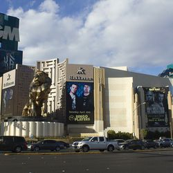 The Hakkasan takeover of the front of the MGM Grand.