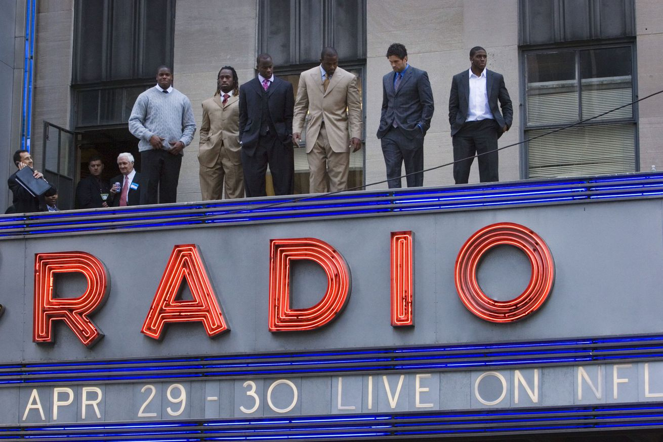 NFL Photo Op at Radio City Hall Marquee