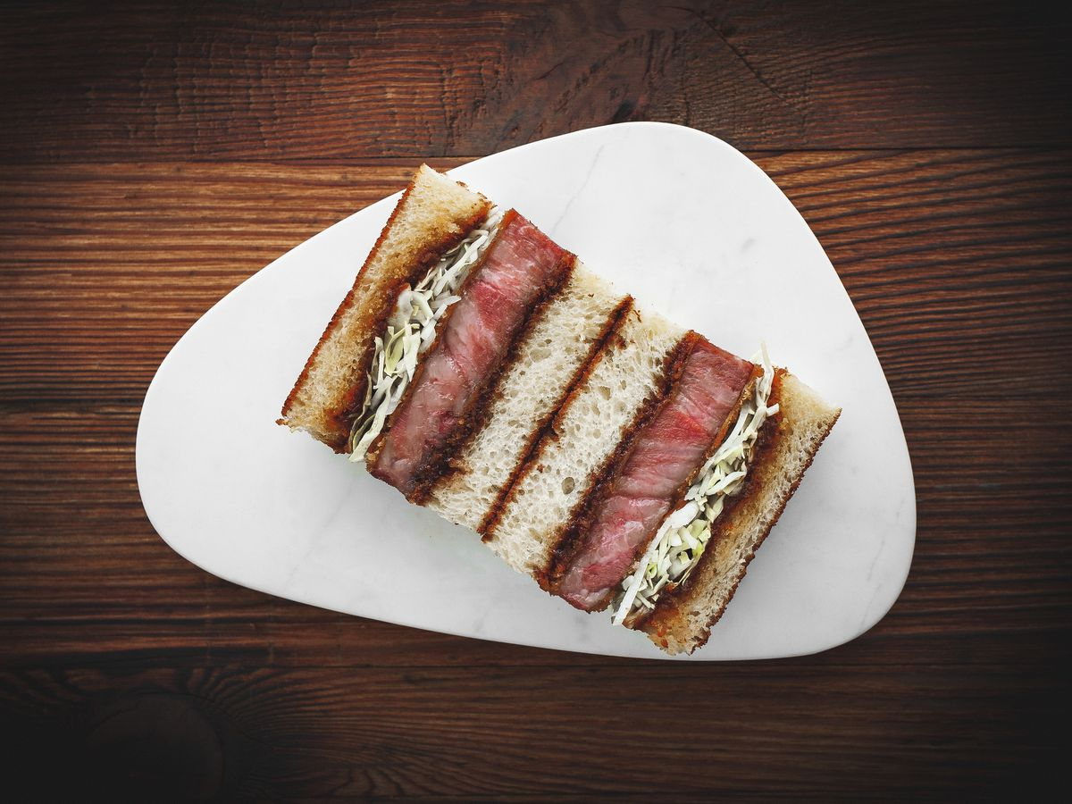The famous Iberico pork katsu sando by Tata Eatery's Ana Gonçalves and Zijun Meng, which will feature at the new sando shop, Tou