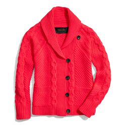 """<a href=""""http://f.curbed.cc/f/Coach_SP_102413_cardigan"""">Handknit aran shawl cardigan</a> in flare, $798"""