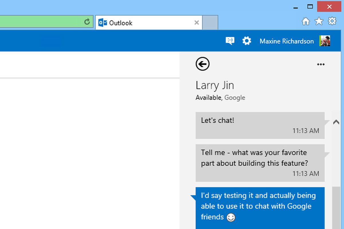 Outlook com gets Google Talk support, rolling out worldwide