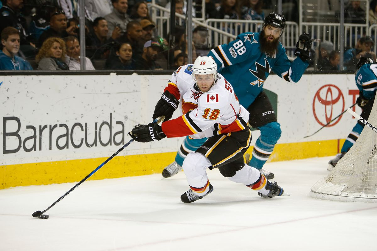 Matt Stajan will have to do what he can with Troy Brouwer and Curtis Lazar again.