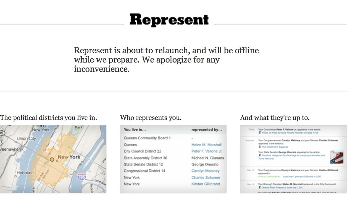 Screenshot of Represent