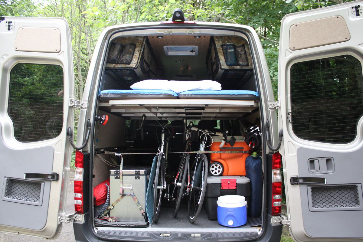 The Rear View Of A Mercedes Sprinter Van Outfitted With Modular Camper Kit From Adventure Wagon All Photos Courtesy