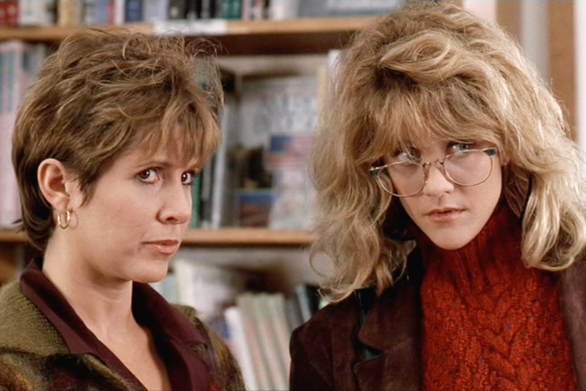 bcfc956cdddc Carrie Fisher and Meg Ryan in When Harry Met Sally.