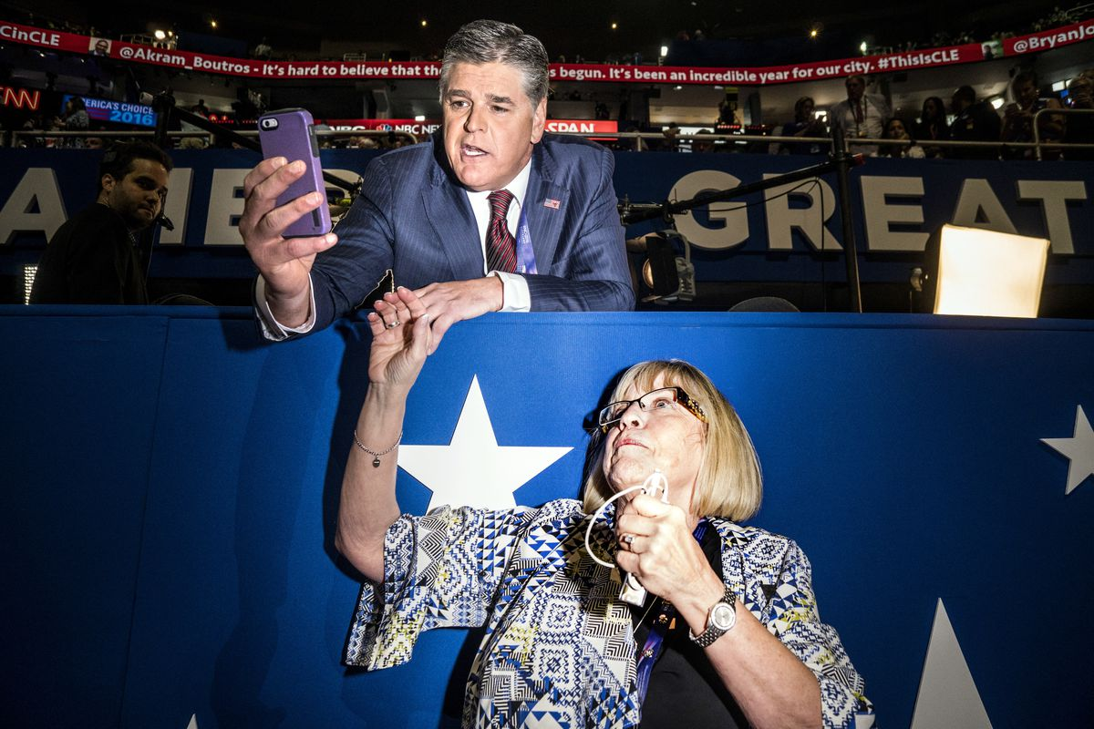 Sean Hannity at the Republican National Convention.