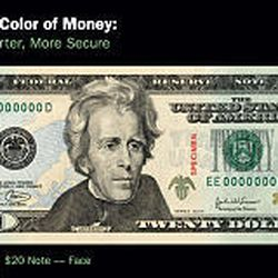 Within 18 months, newly colored $20s will comprise half of all $20s in circulation.