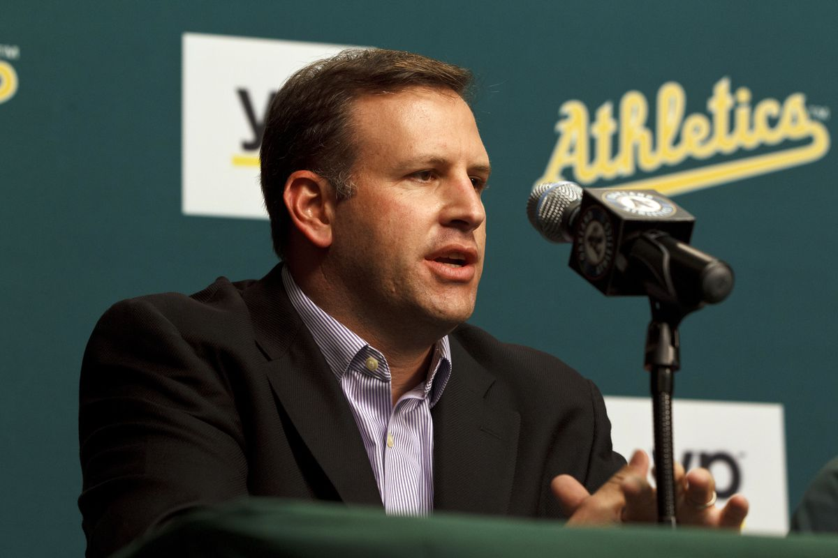 A's general manager David Forst.