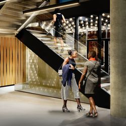 The new and improved lobby coming to the Steppenwolf Theatre. | Adrian Smith + Gordon Gill (provided)