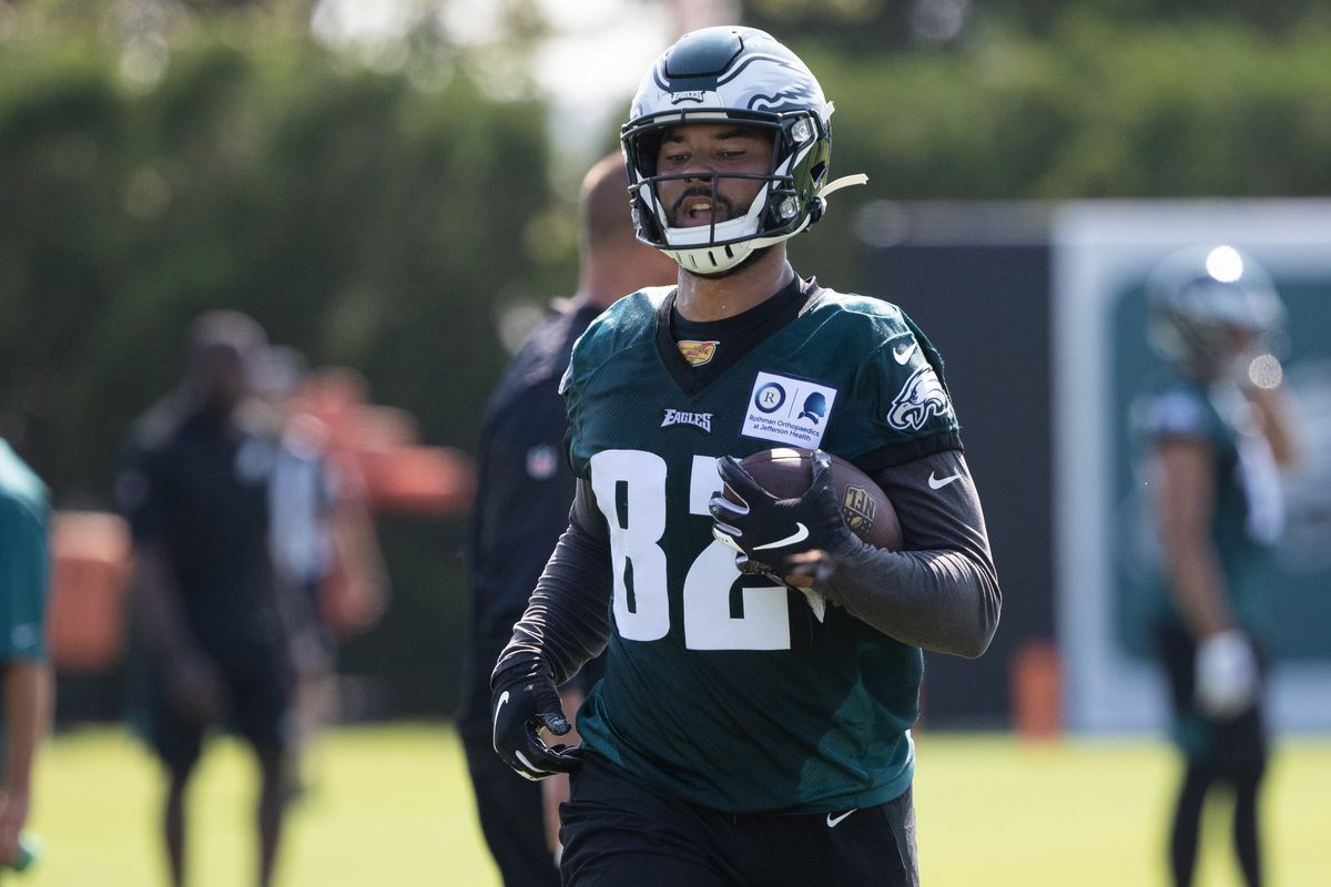 Philadelphia Eagles tight end Richard Rodgers during training camp at Novacare Complex.