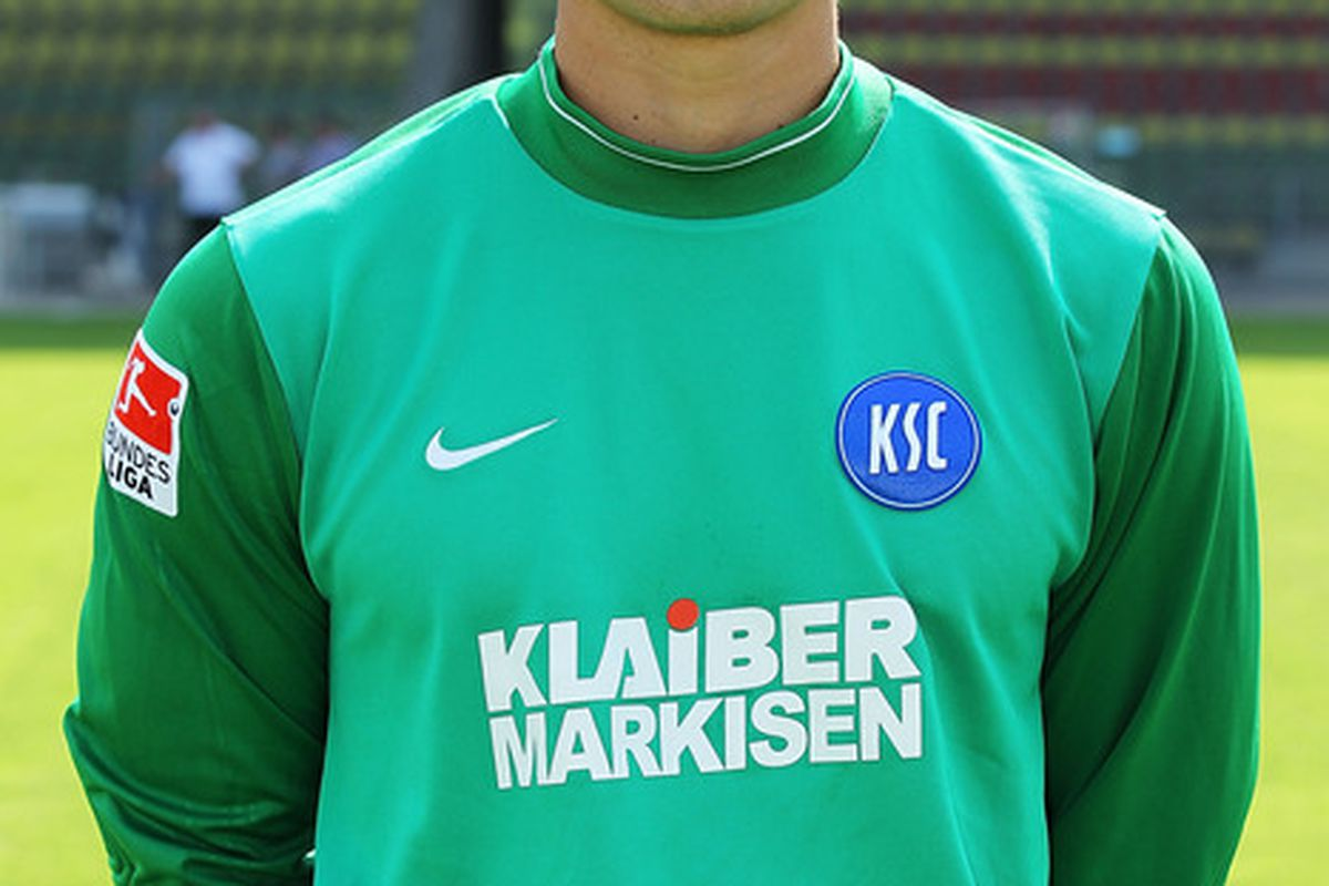 Luis Robles poses during the Second Bundesliga team presentation of Karlsruher SC at the Wildpark Stadium on July 5, 2011 in Karlsruhe, Germany.  (Photo by Thomas Niedermueller/Bongarts/Getty Images)