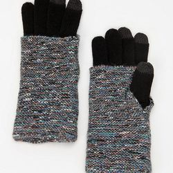 """<b>Deena & Ozzy Layered Texting Glove</b> in gray, <a href=""""http://www.urbanoutfitters.com/urban/catalog/productdetail.jsp?id=25683798&parentid=WOMENS_ACCESSORIES"""">$20</a> at Urban Outfitters"""