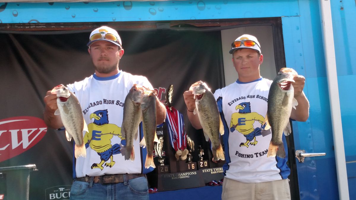 Elverado with the bag on the final day as they won the eighth IHSA state championship for bass fishing.<br>Credit: Dale Bowman
