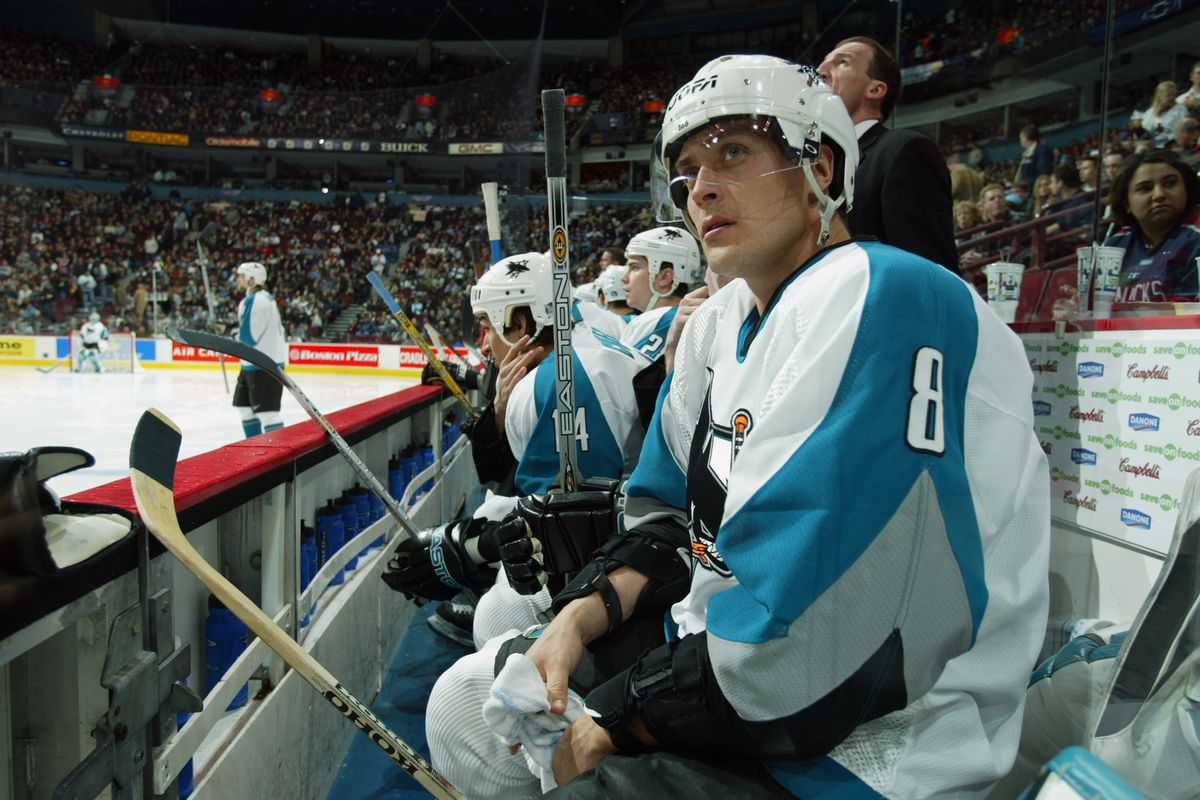 Selanne on the bench