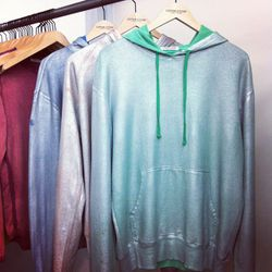 Paging Kanye: These metallic coated hoodies are made for the stage.