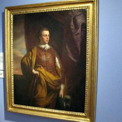 A portrait of Thomas Middleton, a signer of the Declaration of Independence, hangs in the Gibbes Museum of Art in Charleston, S.C., on Wednesday, April 11, 2012. An image of the art work is one of more than 30,000 from art museums worldwide now available for viewing on the Internet through the Google Art Project. People can enter the Google Art Project site, see high resolution images and zoom in on details. It brings museum collections together in one place so art lovers don't have to go to various websites.