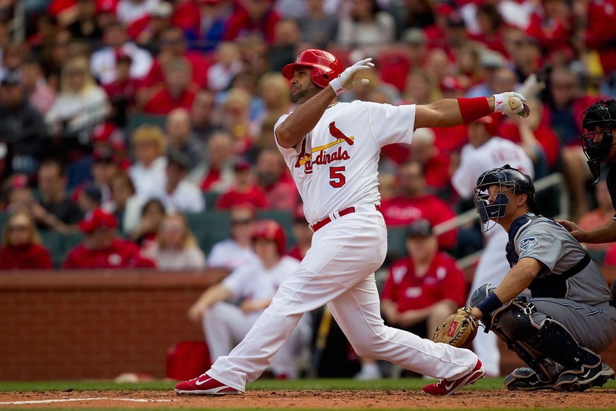 Albert Pujols swats a home run