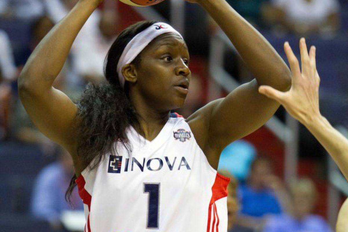 Crystal Langhorne is averaging 13 points per game this season after doing all her scoring in one half on Sunday.