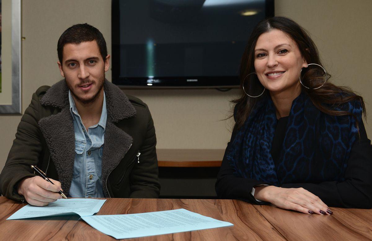 Soccer - Barclays Premier League - Chelsea's Eden Hazard signs a New Contract - Stamford Bridge