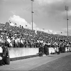 1959-Spectators watching the FSU football game against the College of William & Mary in Tallahassee.