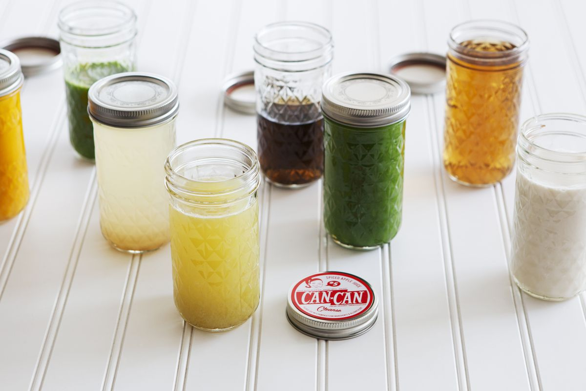"""The lineup for the winter cleanse; photo via <a href=""""http://cancancleanse.com"""">Can Can Cleanse</a>"""