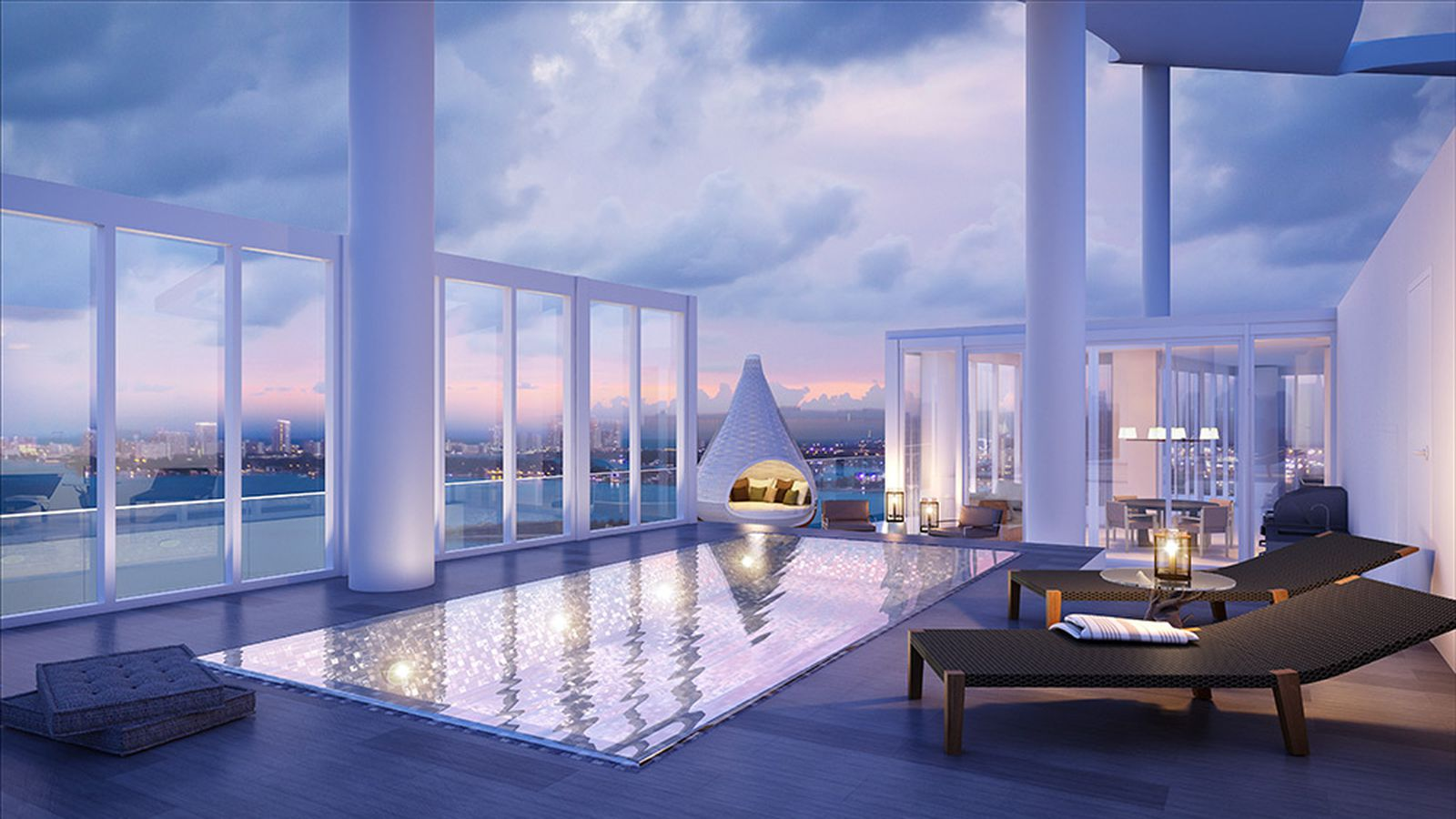 Biscayne Beach S Premier Remaining Penthouse With Sky