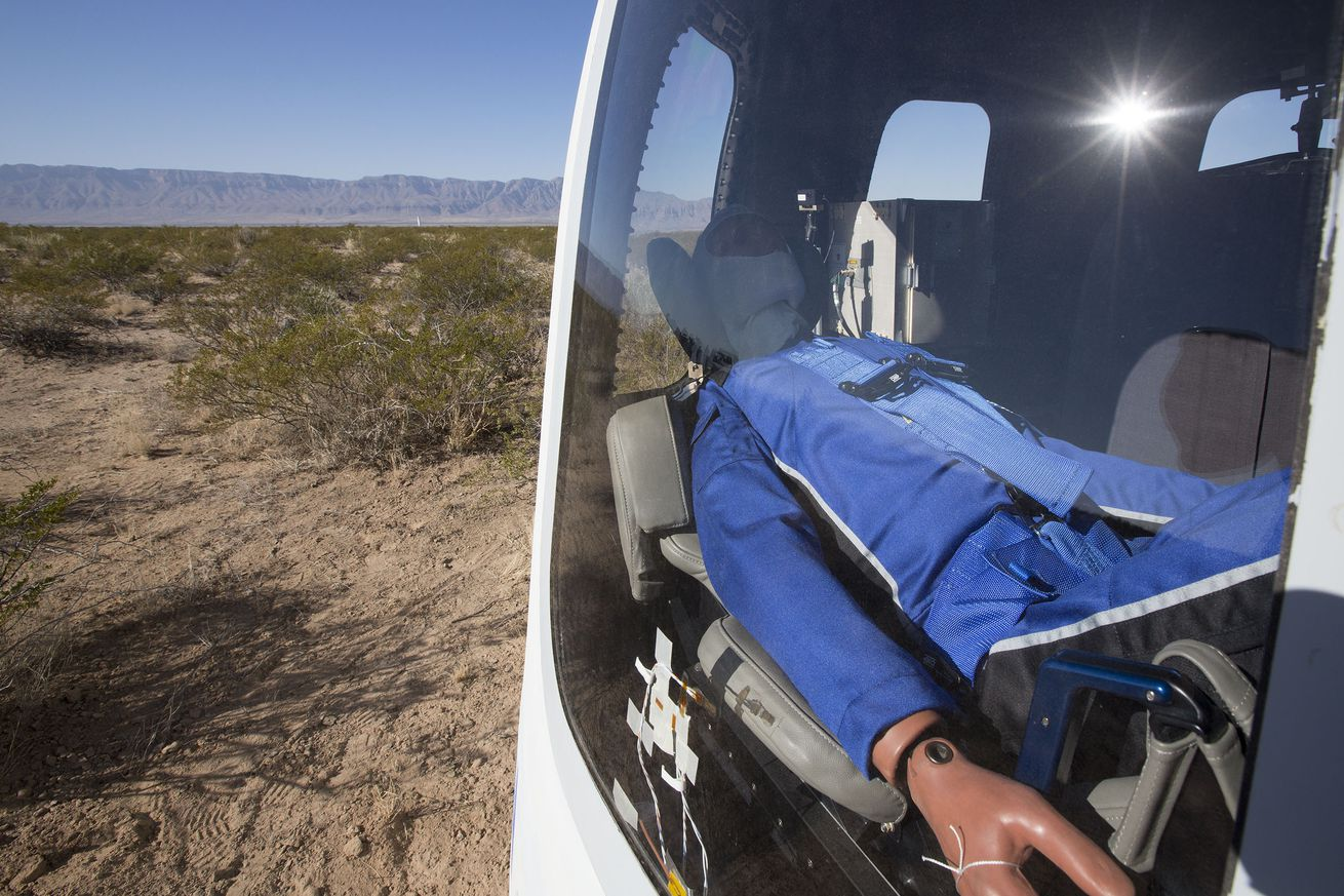 watch blue origin s mannequin ride to space and back