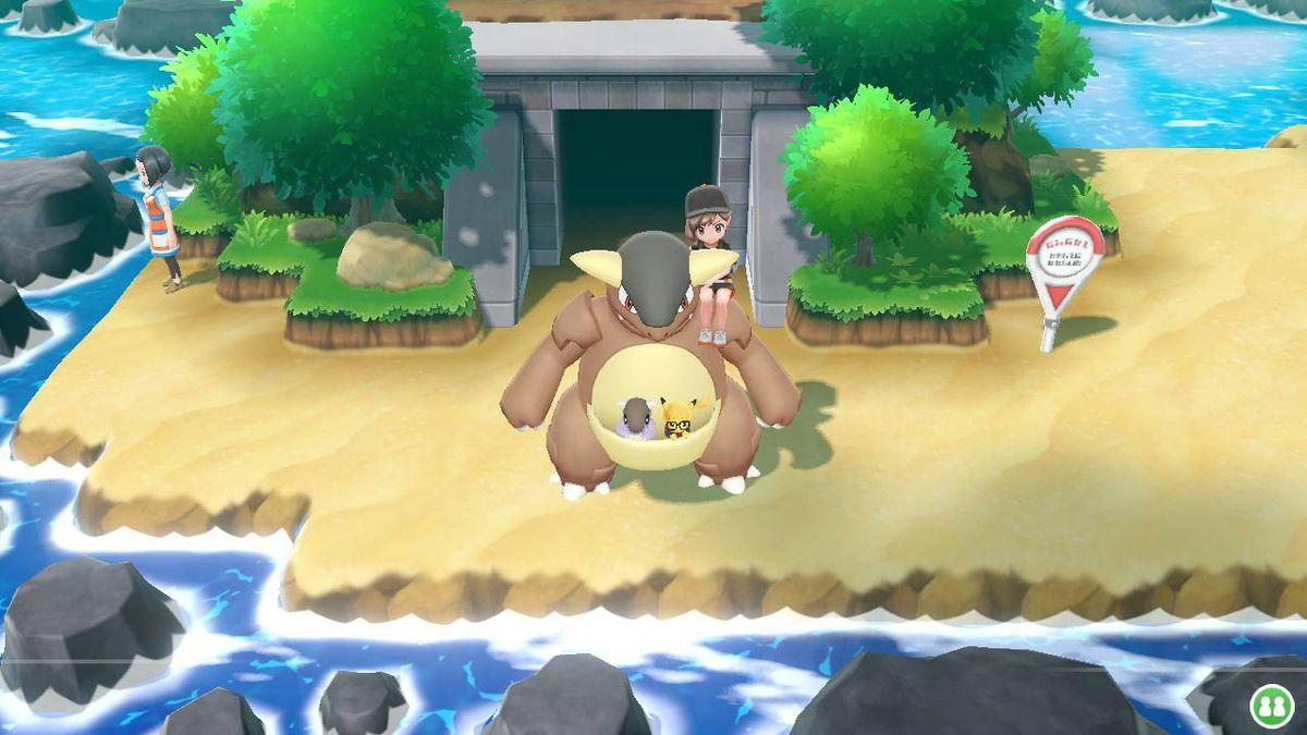 kangaskhan in pokemon lets go