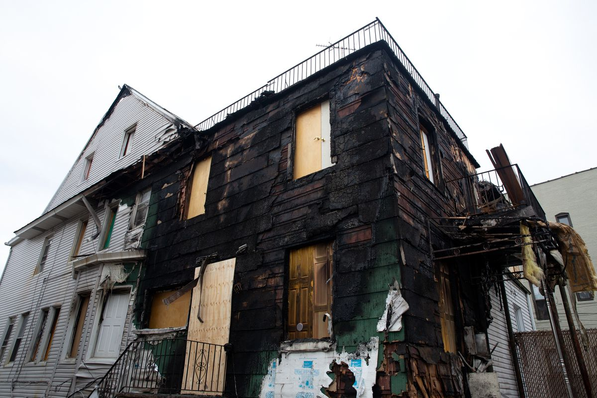 The fire destroyed the Bensonhurst home of a group of organized delivery cyclists.