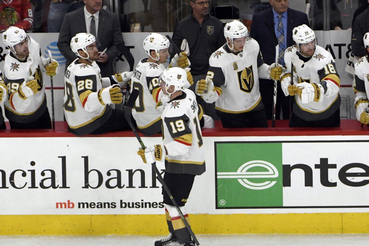 NHL: Vegas Golden Knights at Chicago Blackhawks