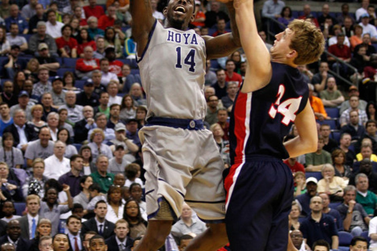 Henry Sims is trying to make the Utah Jazz as an undrafted free agent.  (Photo by Rob Carr/Getty Images)