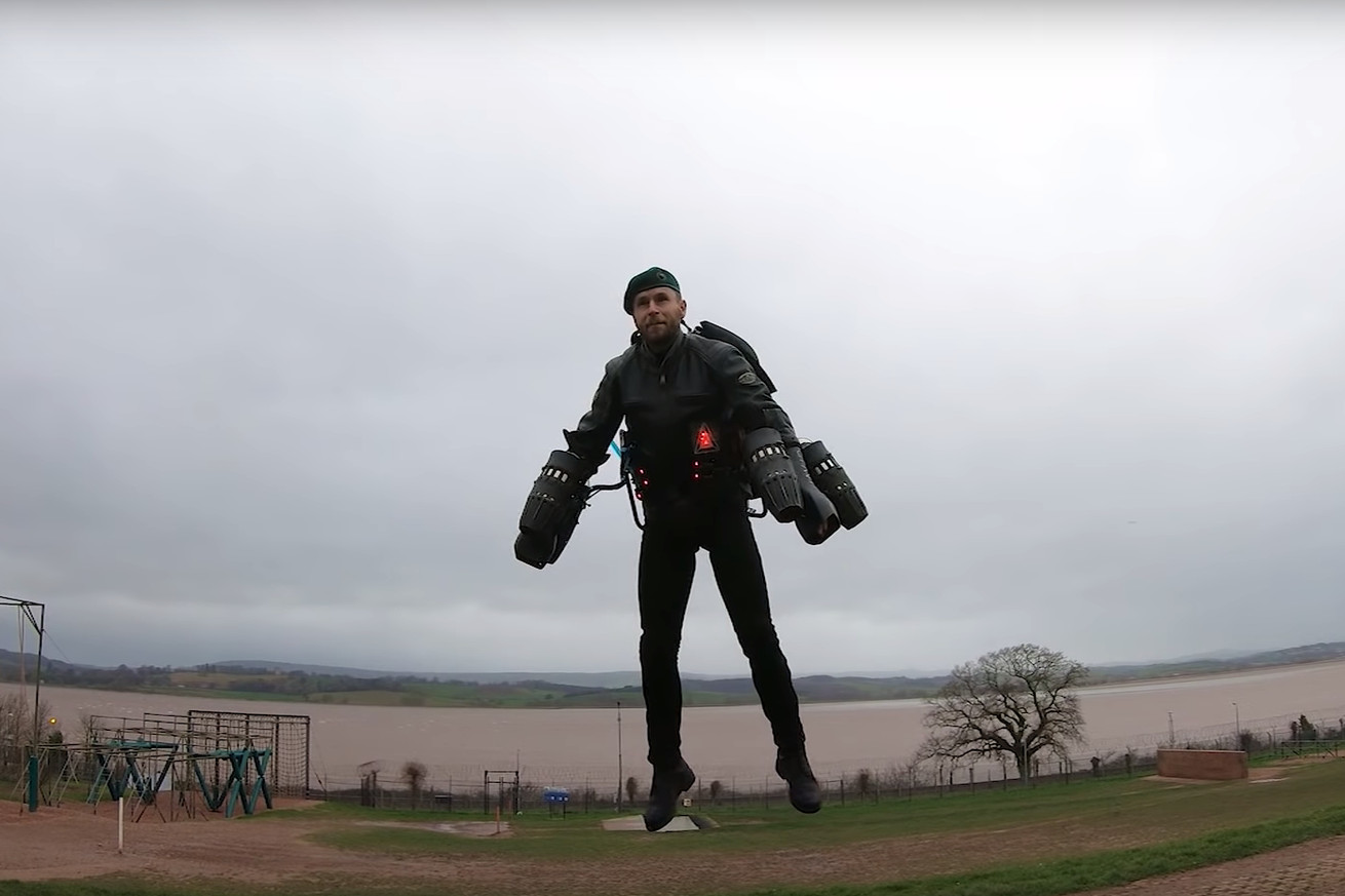 watch an inventor take on a royal marines assault course in a jet suit