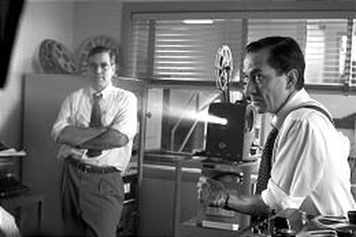 """George Clooney and David Strathairn in """"Good Night, and Good Luck."""""""
