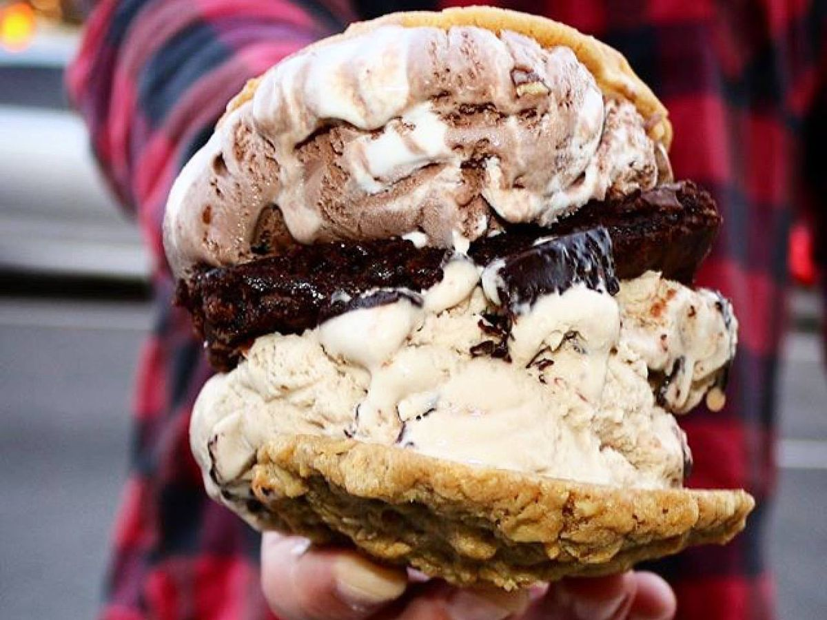 The massive ice cream sandwich from Baked Bear