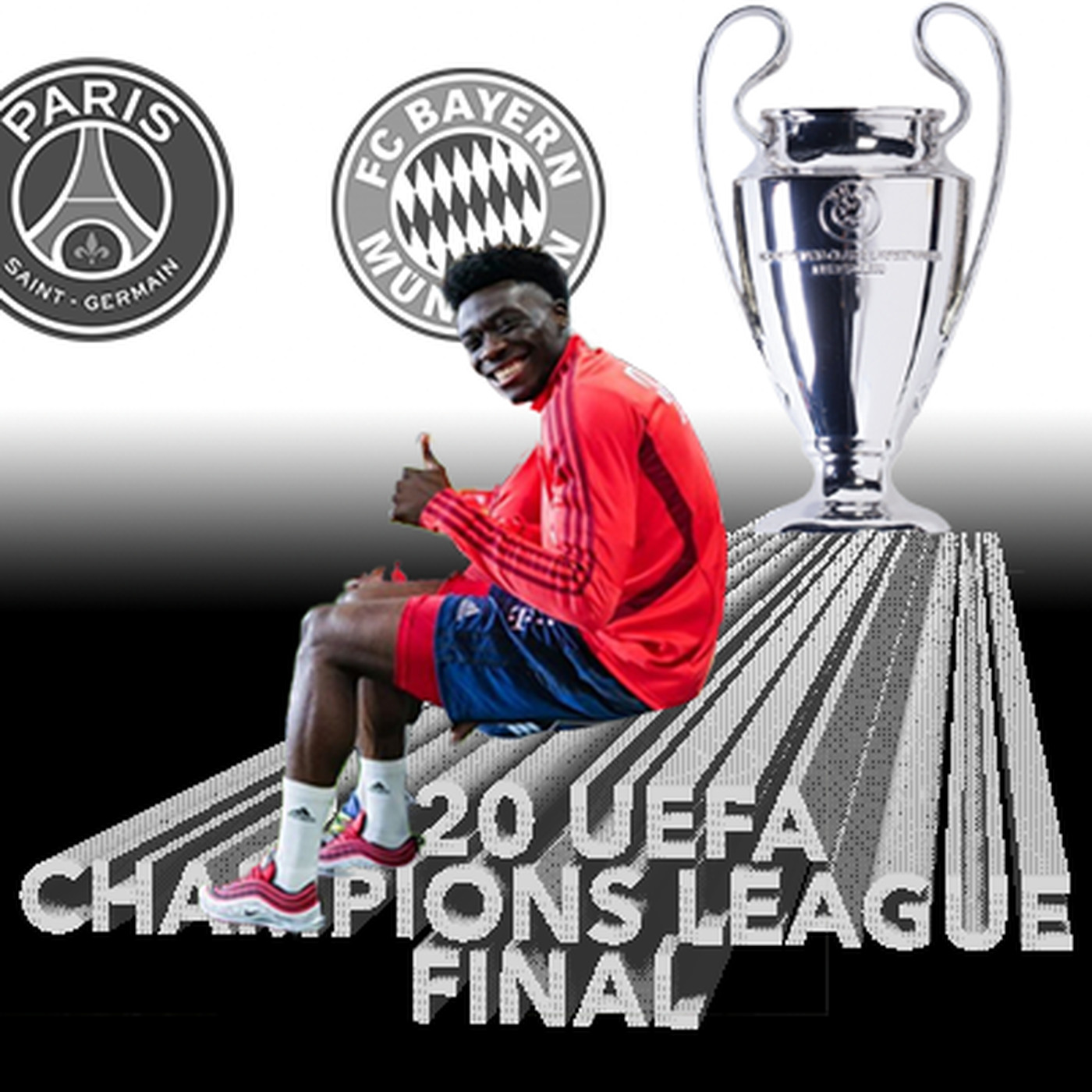 alphonso davies looks to make history against psg in uefa champions league final sunday waking the red uefa champions league final sunday