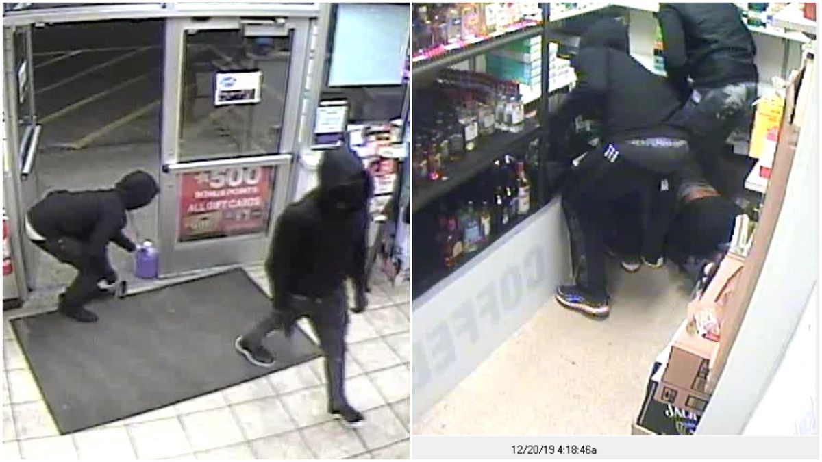 Masked suspects robbed a Speedway gas station in Frankfort Township