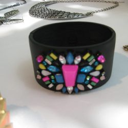 The much coveted neon jewel inlaid cuff.