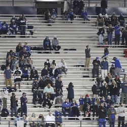 BYU fans cheer in Provo on Saturday, Oct. 24, 2020.
