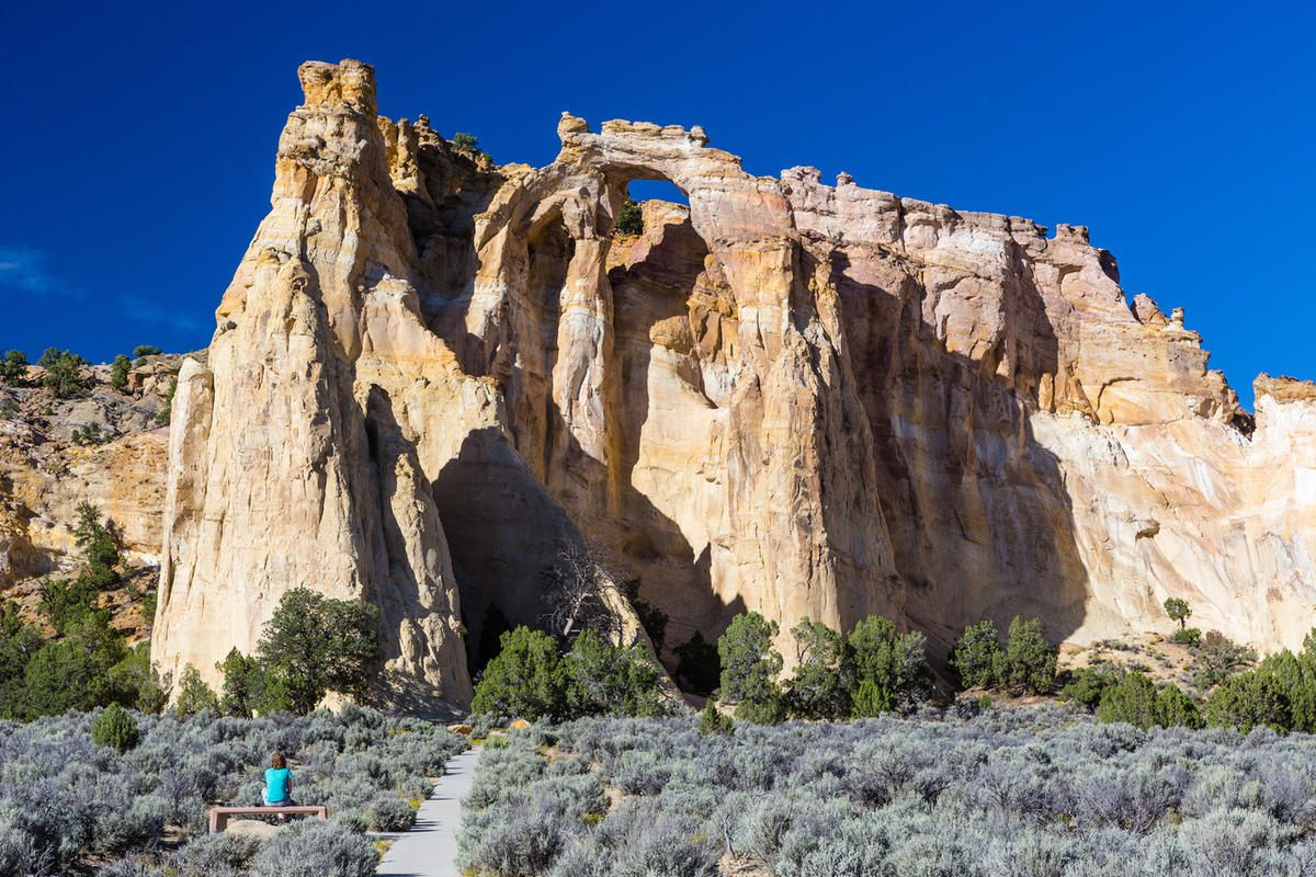Grosvenor Arch within Grand Staircase-Escalante National Monument.
