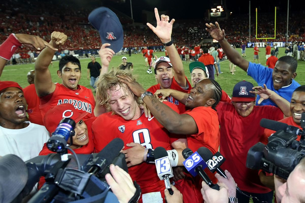 Arizona Stadium resembles its more celebrated campus counterpart McKale in the good times.  (Photo by Christian Petersen/Getty Images)