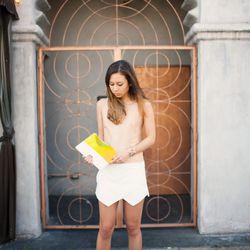 "Rumi of <a href=""http://www.fashiontoast.com/"">FashionToast</a> is wearing a <a href=""http://www.zara.com/webapp/wcs/stores/servlet/product/us/en/zara-nam-S2013/358006/1160060/WRAP+MINI+SKORT"">Zara</a> skort, a <a href=""http://shop.nordstrom.com/s/j-brand"