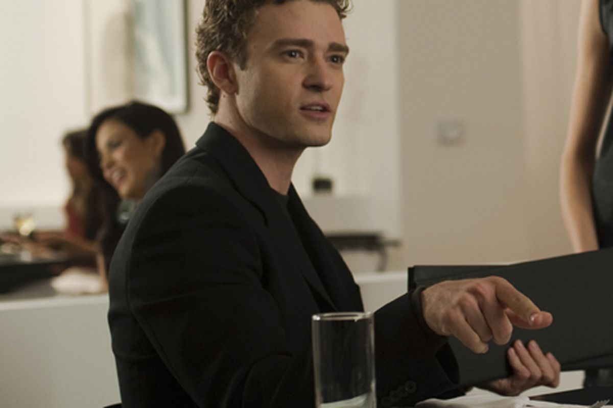 Justin Timberlake as Napster's Sean Parker in The Social Network, back when he was just pretending to be a start-up mogul