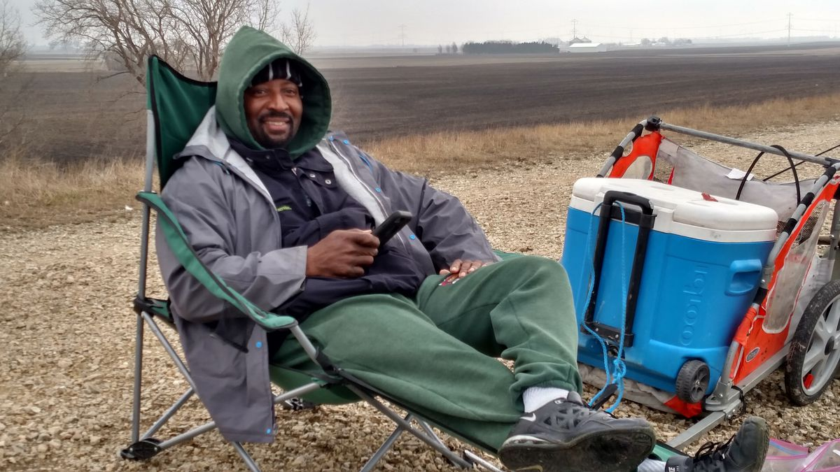Darryl Turner had the right feel for LaSalle Lake Tuesday on opening day.<br>Credit: Dale Bowman