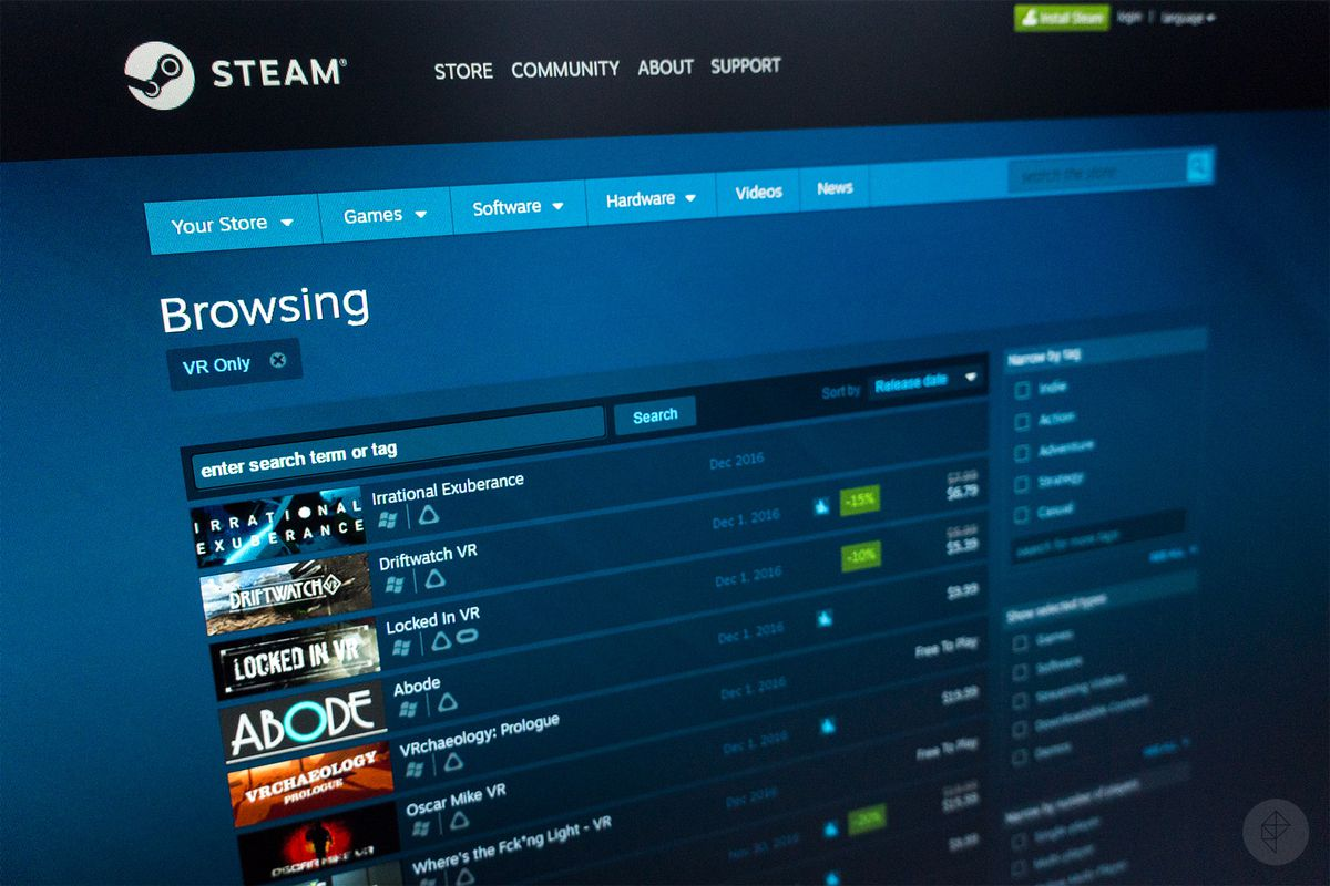 Almost two-fifths of Steam's entire library was released in 2016